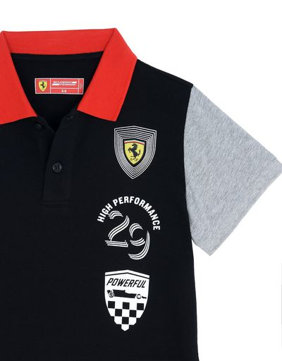 Scuderia Ferrari Online Store - Children's polo shirt in cotton jersey - Short Sleeve Polos