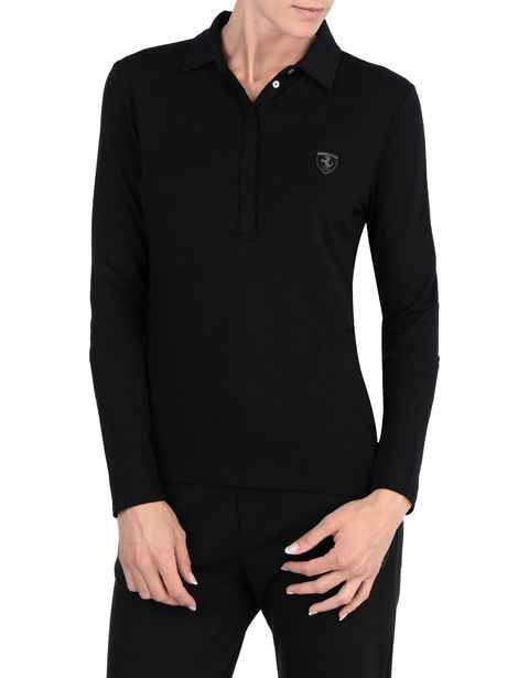 Long-sleeve women's polo shirt
