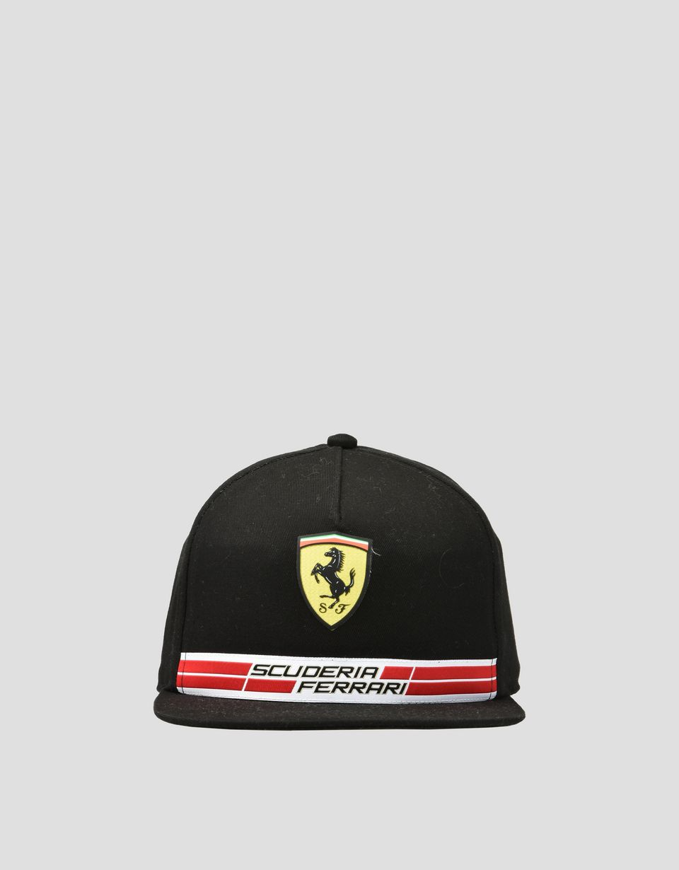 Scuderia Ferrari Online Store - Children's cotton Scuderia Ferrari cap with Icon Tape - Baseball Caps
