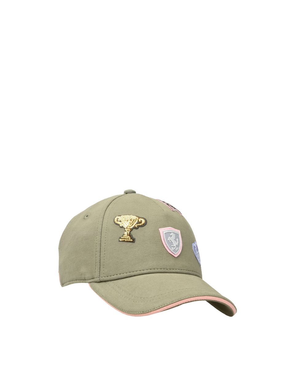 Scuderia Ferrari Online Store - Girl's cap with embroidered patches -