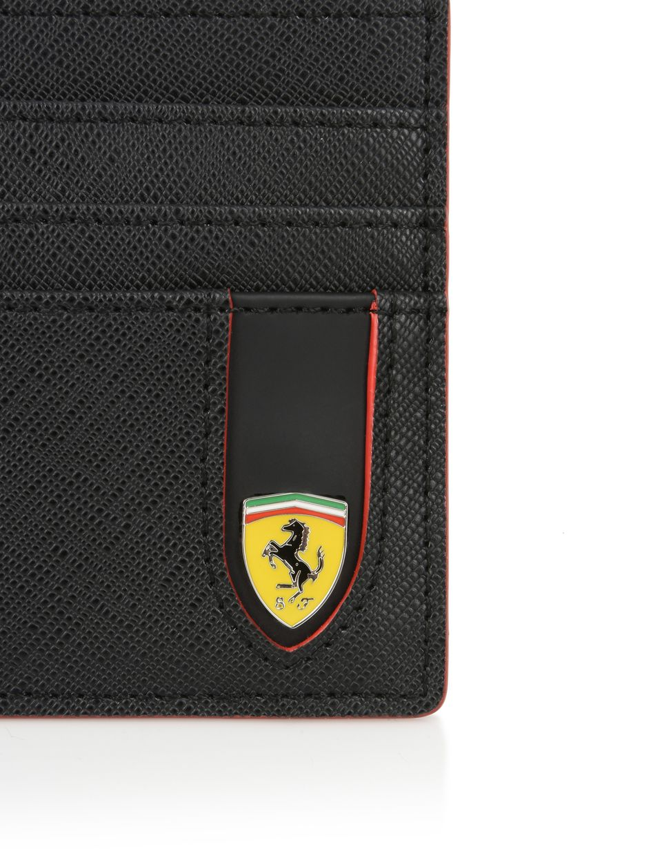 Scuderia Ferrari Online Store - Credit card holder in Saffiano leather - Credit Card Holders