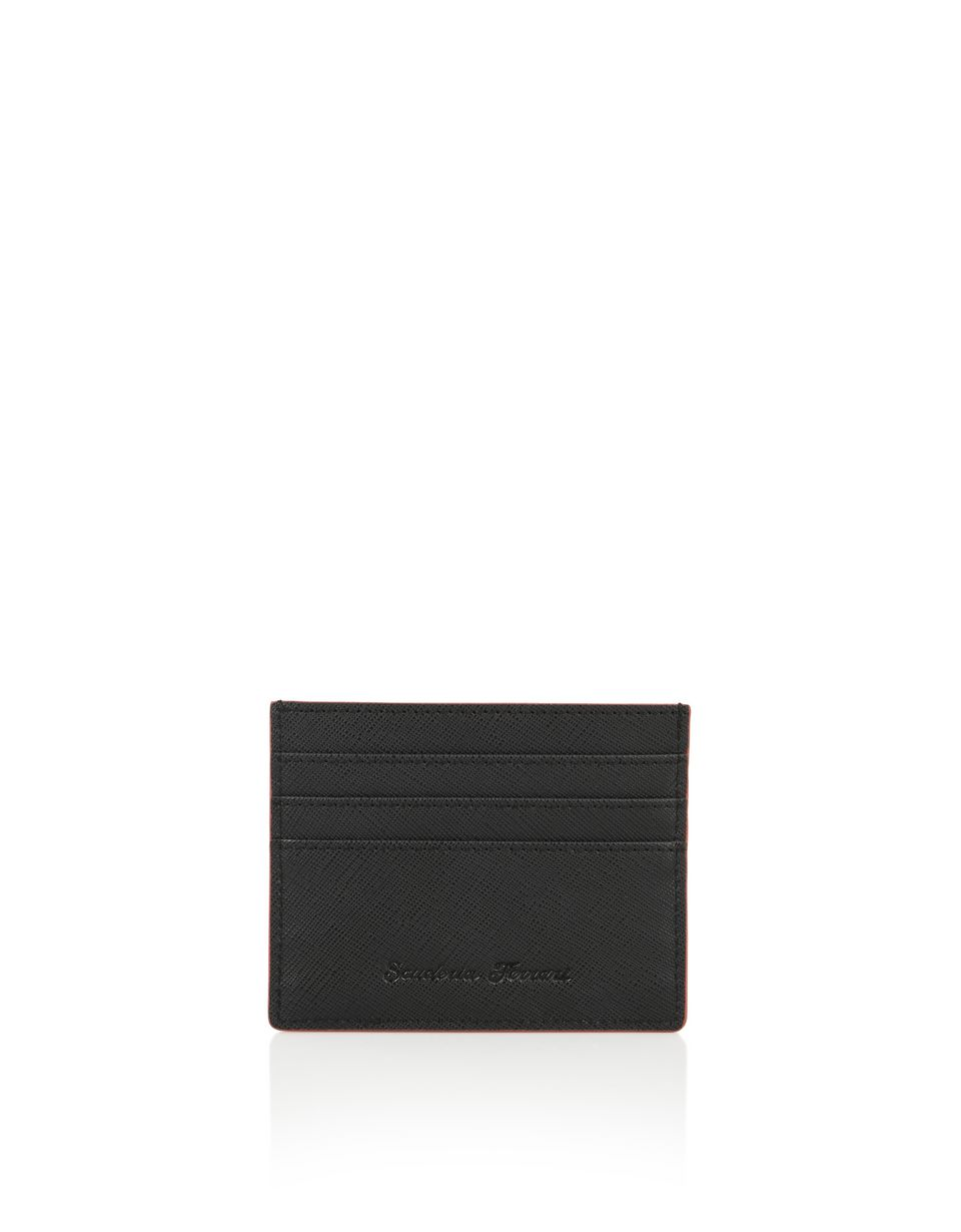 Scuderia Ferrari Online Store - Saffiano leather credit card holder - Credit Card Holders