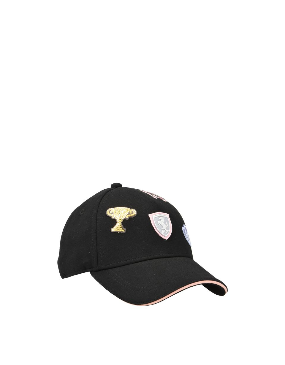 Scuderia Ferrari Online Store - Girl's cap with embroidered patches - Baseball Caps