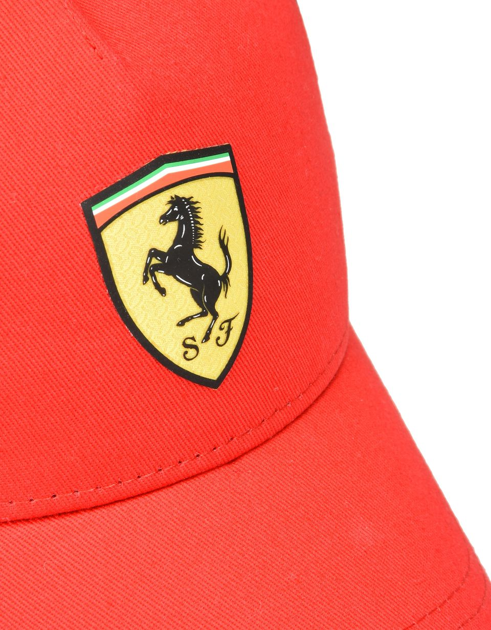 Scuderia Ferrari Online Store - Kids' cotton and technical fabric hat - Baseball Caps