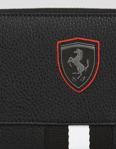 Scuderia Ferrari Online Store - Women's wallet in hammered faux leather - Zip-around Wallets