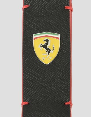 Scuderia Ferrari Online Store - Keyring in hammered leather - Keyholders
