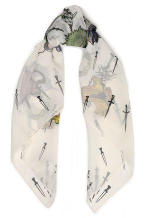 RAG & BONE Printed silk-chiffon scarf