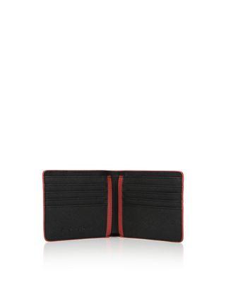 Scuderia Ferrari Online Store - Portafoglio orizzontale in pelle Saffiano - Portafogli Verticali
