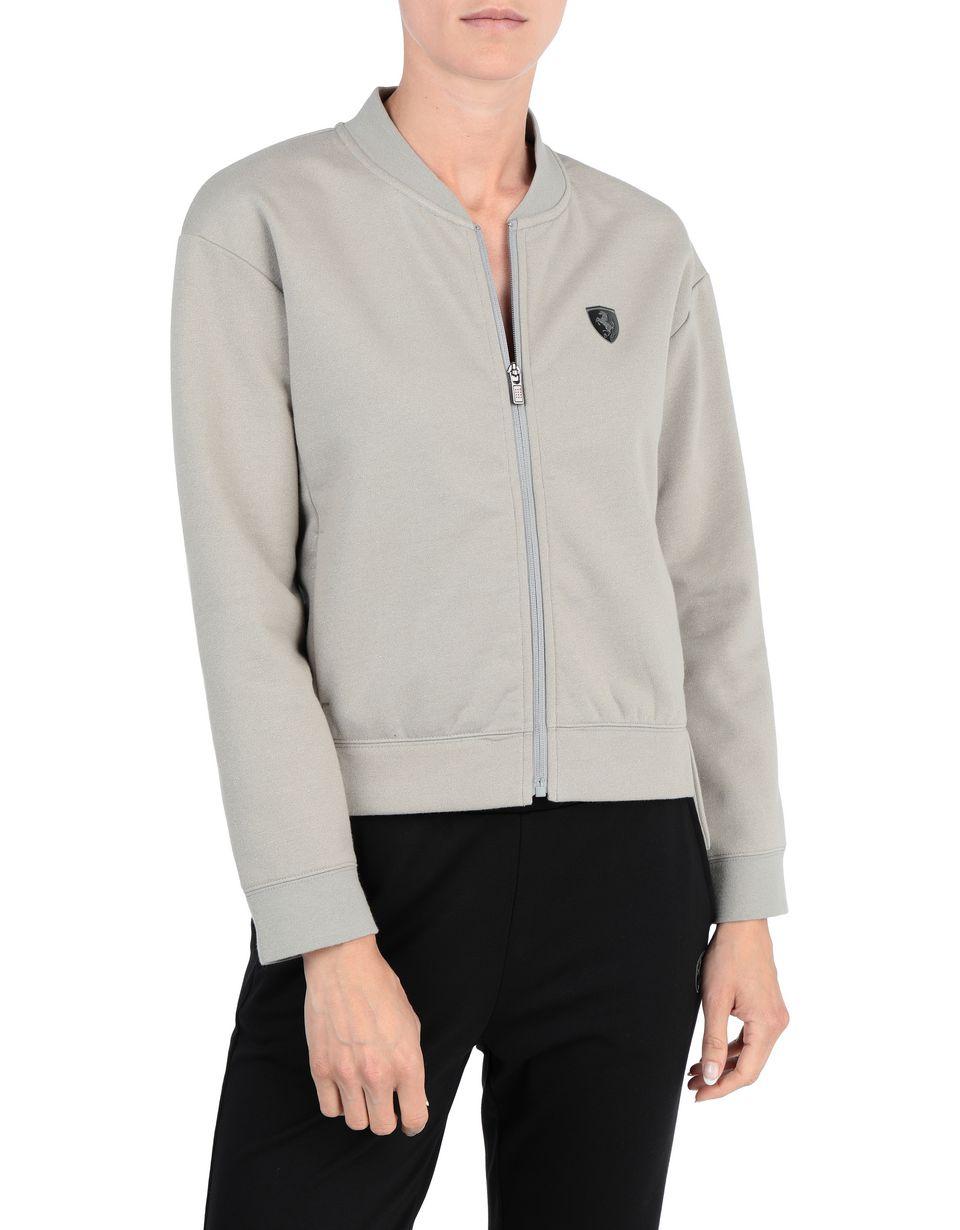 Scuderia Ferrari Online Store - Women's golden effect sweatshirt - Zip Sweaters