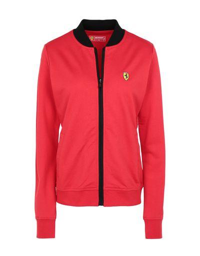 Scuderia Ferrari Online Store - Full zip women's sweatshirt with pockets - Zip Jumpers