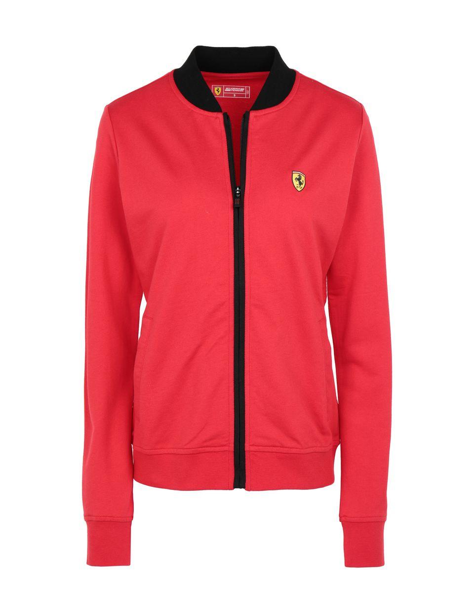 Scuderia Ferrari Online Store - Damenjacke mit durchgehendem Reißverschluss und Taschen - Pullover mit Reißverschluss