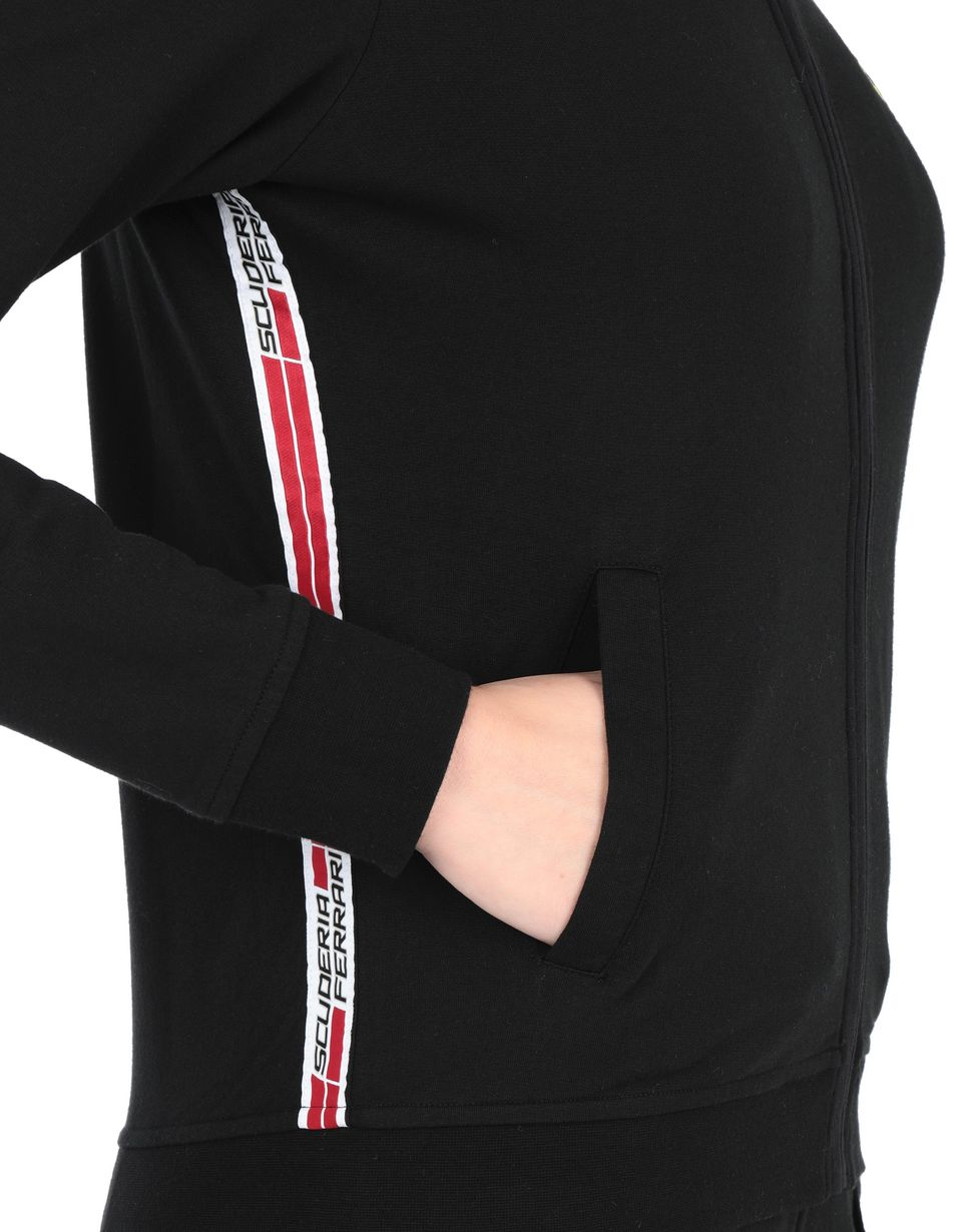 Scuderia Ferrari Online Store - Full zip women's sweatshirt with pockets - Zip Jumpers