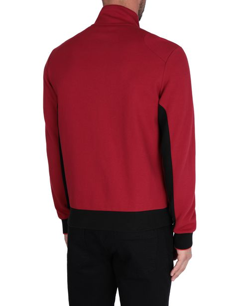 Men's sweater with zipper and contrasting inserts