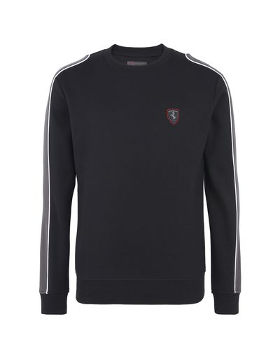 Scuderia Ferrari Online Store - Men's sweater with contrasting inserts - Crew Neck Sweaters