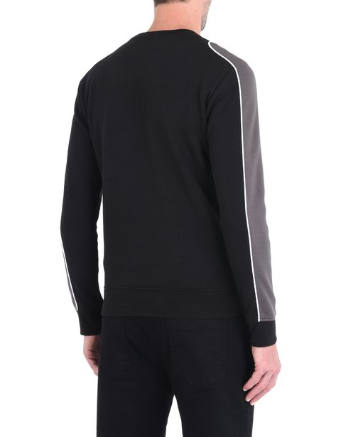 Men's sweater with contrasting inserts