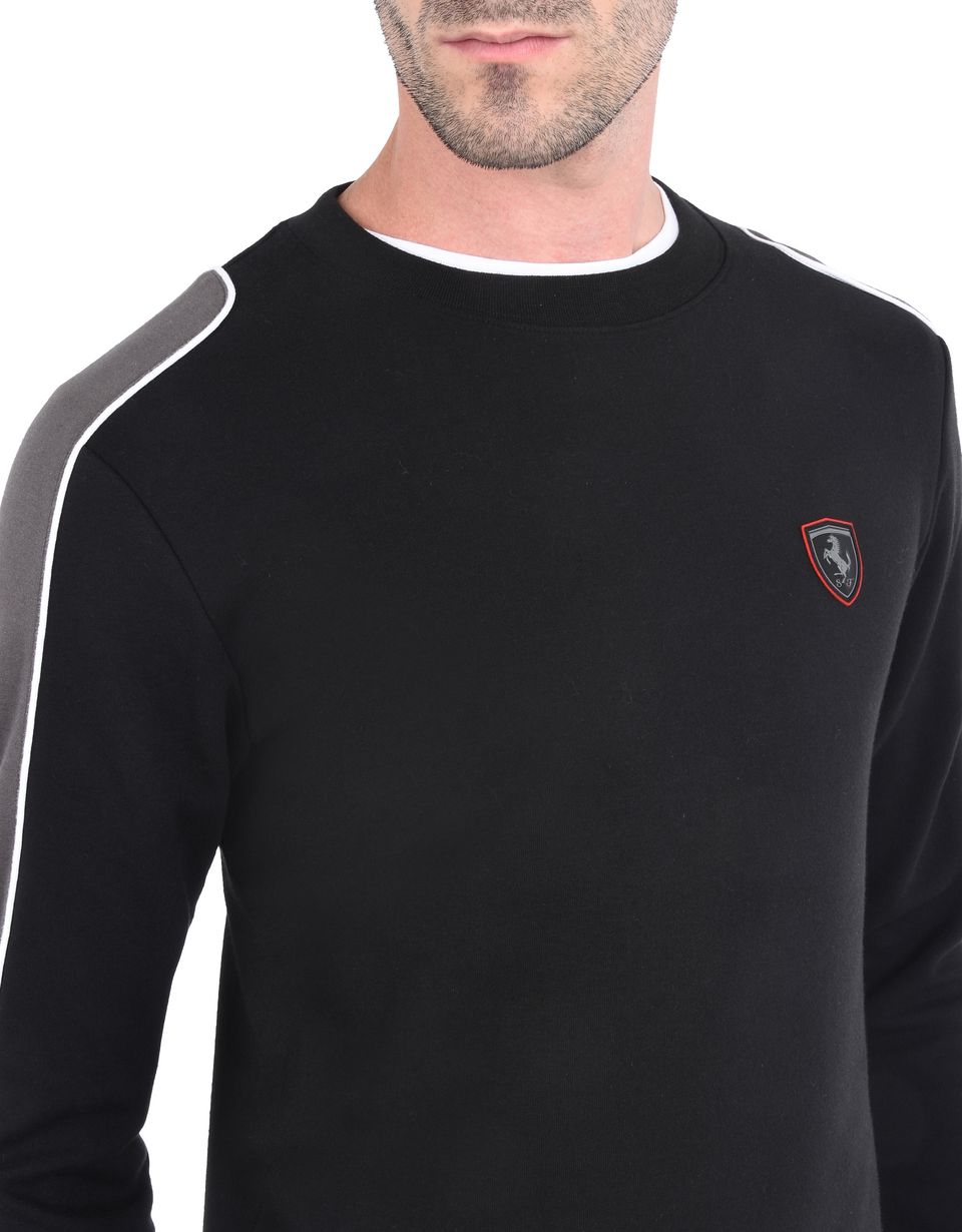 Scuderia Ferrari Online Store - Men's jumper with contrasting inserts - Crew Neck Jumpers