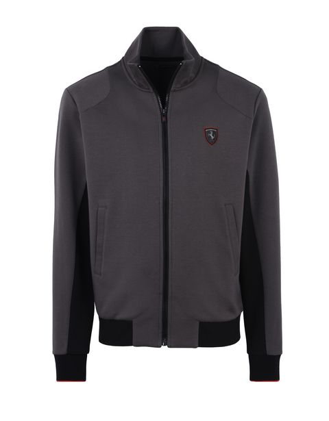 Scuderia Ferrari Online Store - Men's sweater with zipper and contrasting inserts -