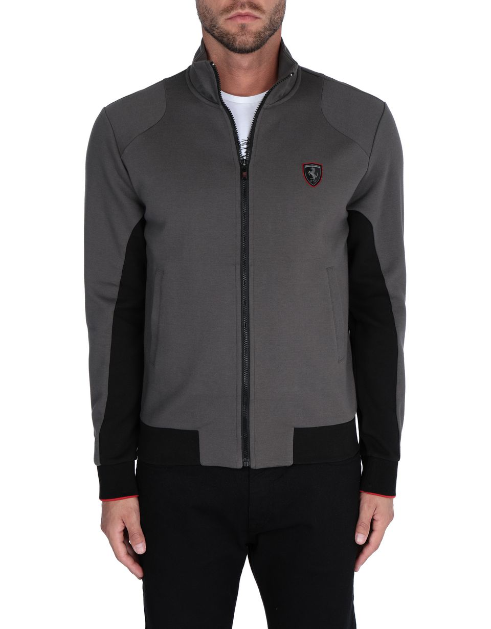 Scuderia Ferrari Online Store - Men's zipped jumper with contrasting inserts - Zip Jumpers