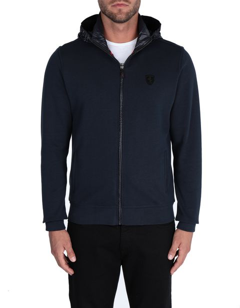 Men's sweater with detachable hood