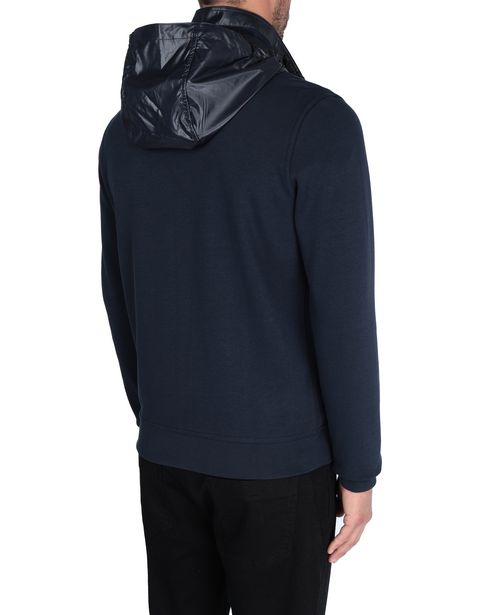 Men's sweater with removable hood