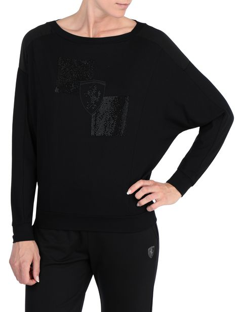 Women's long-sleeve T-shirt with rhinestone Shield