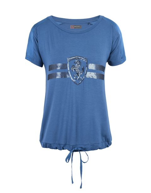 Scuderia Ferrari Online Store - スパンコールをちりばめたレディースTシャツ - 半袖Tシャツ