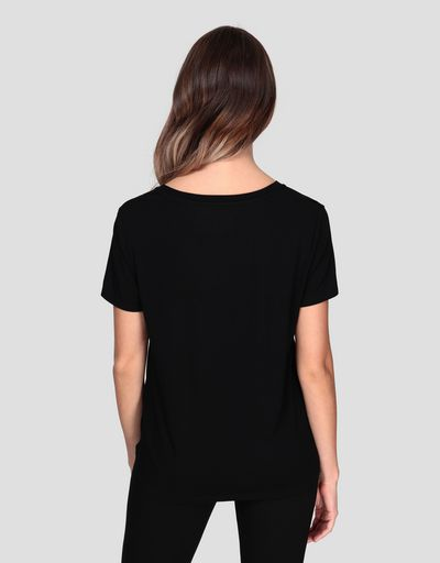 Women's T-shirt with laminated print