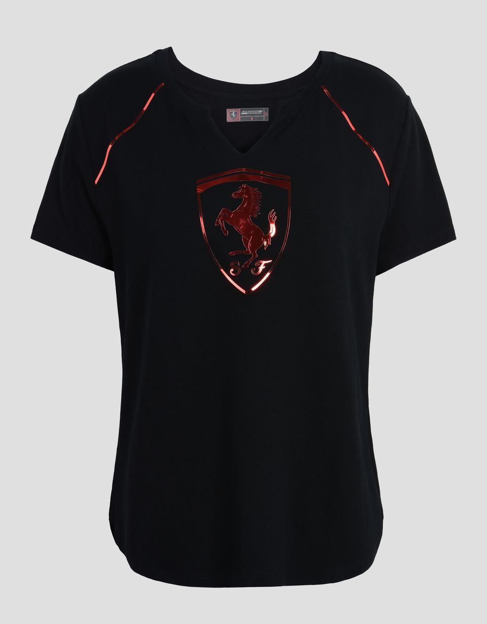 Scuderia Ferrari Online Store - Women's T-shirt with laminated print -