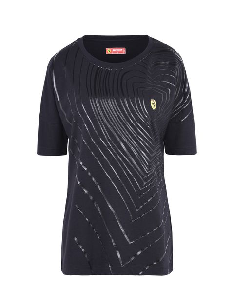 Scuderia Ferrari Online Store - Women's polo shirt in stretch jersey with gems - Short Sleeve T-Shirts