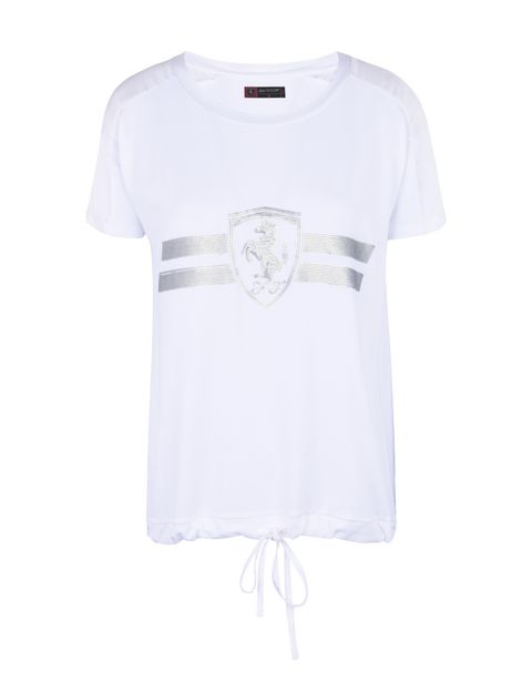 Scuderia Ferrari Online Store - Women's T-shirt with sequins - Short Sleeve T-Shirts