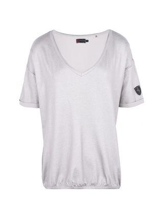 Scuderia Ferrari Online Store - Damen-T-Shirt aus laminiertem Stoff - Kurzärmelige T-Shirts