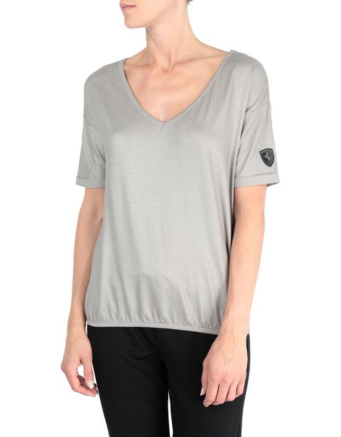 Laminated fabric women's T-shirt