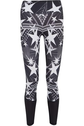 BODYISM I Am Starry mesh-paneled printed stretch leggings