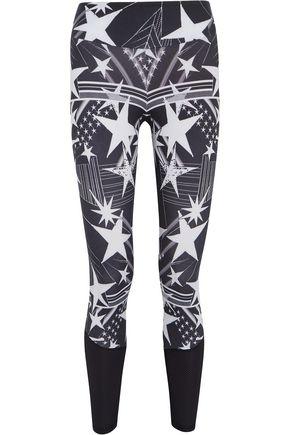 BODYISM I Am Starry mesh-paneled printed stretch leggings
