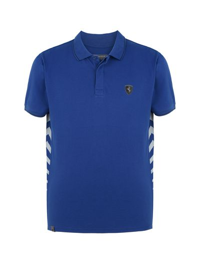 Scuderia Ferrari Online Store - Men's polo shirt in cotton piquet - Short Sleeve Polos