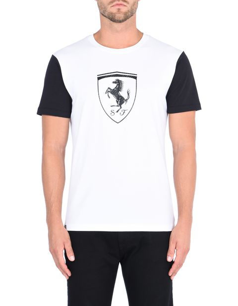 Men's T-shirt with carbon fibre-effect Shield print