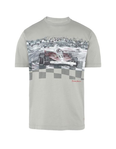 Scuderia Ferrari Online Store - Men's short-sleeve T-shirt with print -