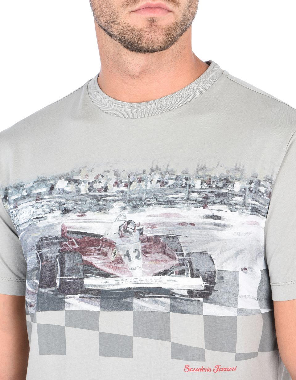 Scuderia Ferrari Online Store - Men's short-sleeve T-shirt with print - Short Sleeve T-Shirts