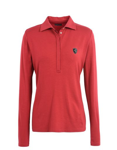 Scuderia Ferrari Online Store - Long sleeved women's polo shirt - Long Sleeve Polos