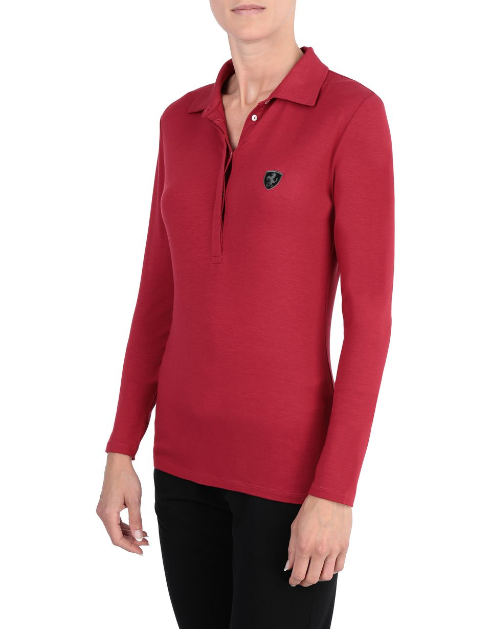 Scuderia Ferrari Online Store - Long-sleeve women's polo shirt - Long Sleeve Polos
