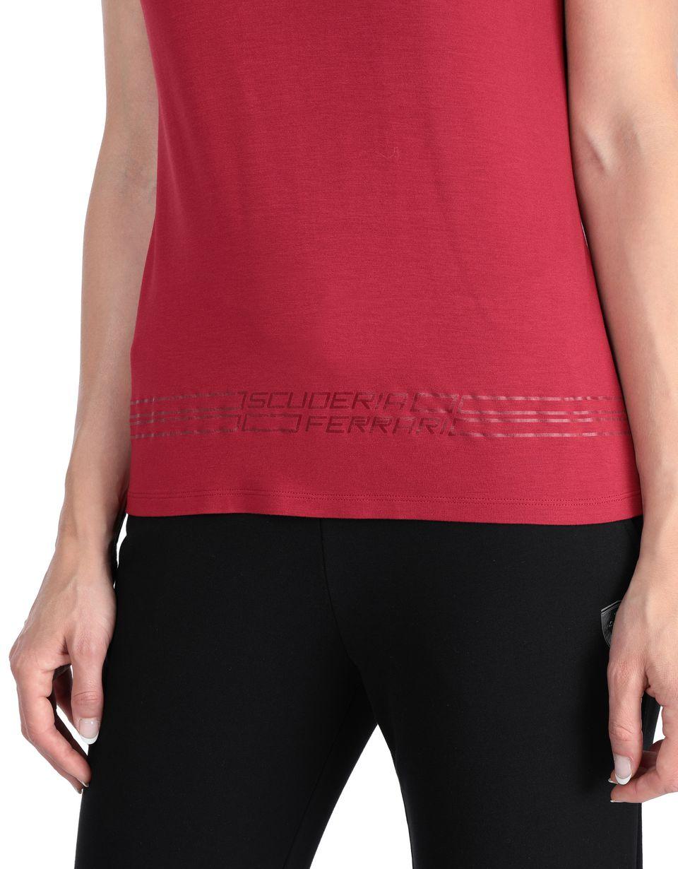 Scuderia Ferrari Online Store - Women's T-shirt with Scuderia Ferrari print - Short Sleeve T-Shirts