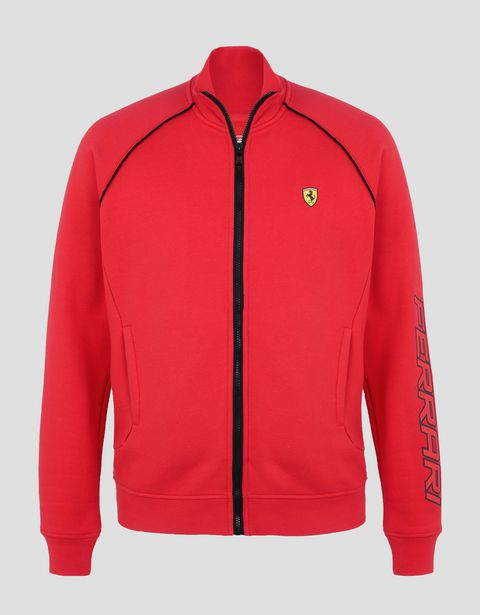 Scuderia Ferrari Online Store - Men's sweatshirt with zip - Zip Jumpers