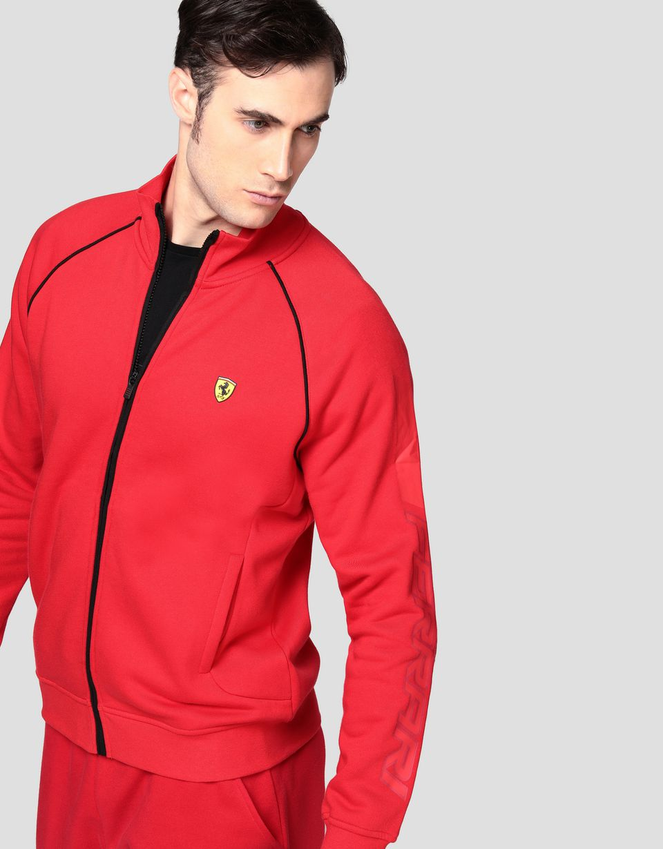 Scuderia Ferrari Online Store - Men's zippered sweatshirt -