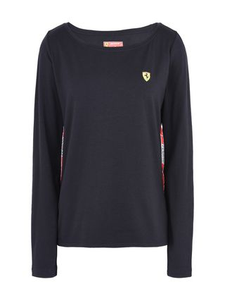 Scuderia Ferrari Online Store - Women's long-sleeved T-shirt with <i>Icon Tape</i> on the sides -