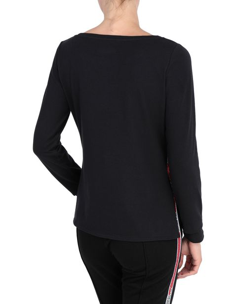 Women's long-sleeved T-shirt with <i>Icon Tape</i> on the sides