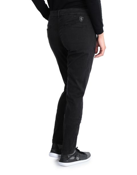 Women's slim-fit stretch cotton trousers