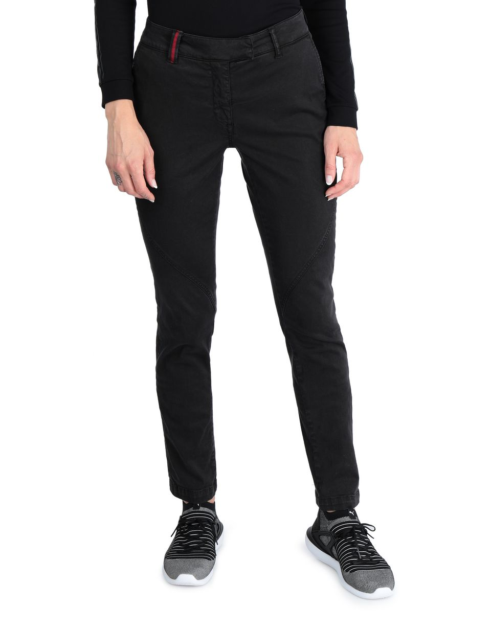 Scuderia Ferrari Online Store - Women's slim-fit stretch cotton trousers -