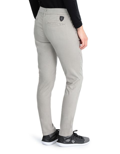 Slim-fit women's stretch cotton pants