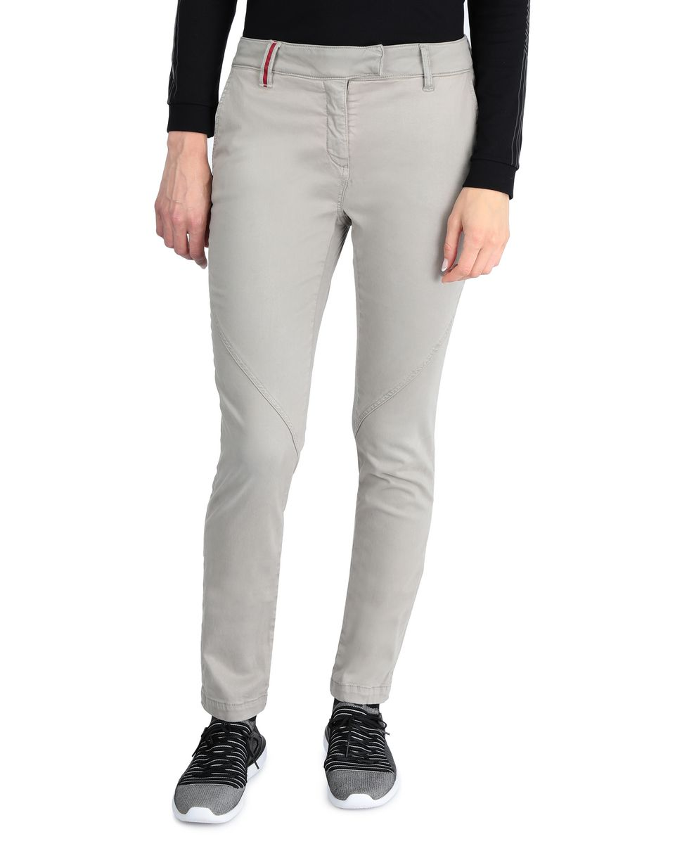 Scuderia Ferrari Online Store - Women's slim-fit stretch cotton trousers - Chinos