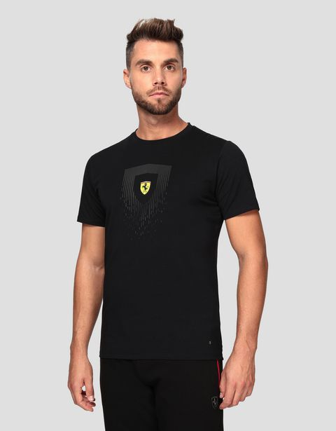 Men's cotton T-shirt with Shield print